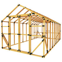 10ft W x 20ft D E-Z Frame Chicken/ Poultry Coop & Run