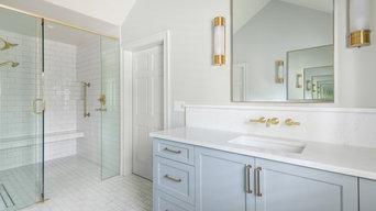 Classic Fresh Grey & White Master Bathroom - Dunwoody