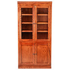 Shop Houzz   Kathy Kuo Home Marcus French Country Reclaimed Wood Double Bookcase - Bookcases