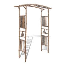 "vidaXL Rose Arch Bamboo 57.1"" Garden Patio Veranda Arbor Vine Plant Support"