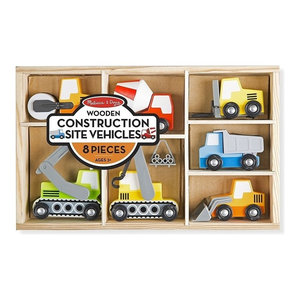 Melissa and Doug Wooden Construction Site Vehicles, Assorted Color