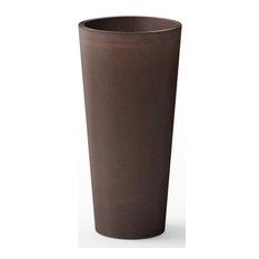 Kobo Tall Round Planter, Espresso