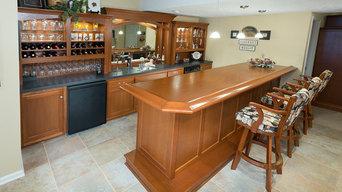 Cherry Home Bar for Raymo and Liane Santilli
