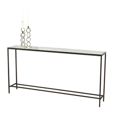 Interlude Home Hayward Natural Rust Console Table