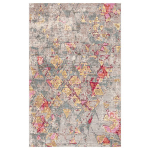 Jaipur Living Ixion Abstract Beige/Pink Area Rug, 9'x12'