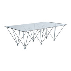 Modern Contemporary Living Room Glass Coffee Table