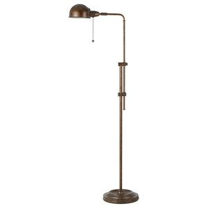 Cal Lighting Bo 117fl Ru 100 W Pharmacy Floor Lamp With