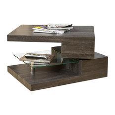 GDFStudio - Bushwick Rectangular Rotating Wood Coffee Table - Coffee Tables