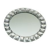 "Elegance Diamond Rim Mirror Charger Plate, 13"""