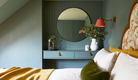Houzz Tour: Colour-rich Rooms Reflect the Play of Light and Dark