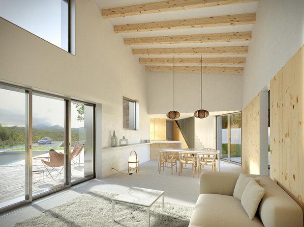 Moderno Salón by Albert Brito Arquitectura