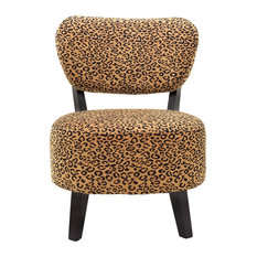 Furniture Import u0026 Export Inc. - Leopard Print Accent Chair - Armchairs And  Accent Chairs