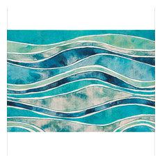 """Liora Manne Illusions Wave Indoor/Outdoor Mat Ocean 2'5""""x4'1"""""""