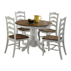 home styles furniture french countryside 5piece dining set oak and rubbed white