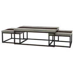 Industrial Coffee Table Sets by Emerald Home