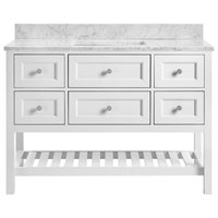 Elma Soft White Bathroom Vanity, 48""