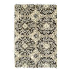 Kaleen Hand Tufted Melange Mushroom Wool Rug, 9'x12'