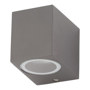 Richmond Outdoor 1-Light Square Modern Style Down Wall Light, Anthracite