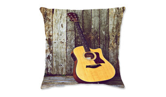 "6 Strings Throw Pillow, 20""x20"""