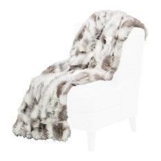 Bryant Faux Fur Throw by Michael Amini