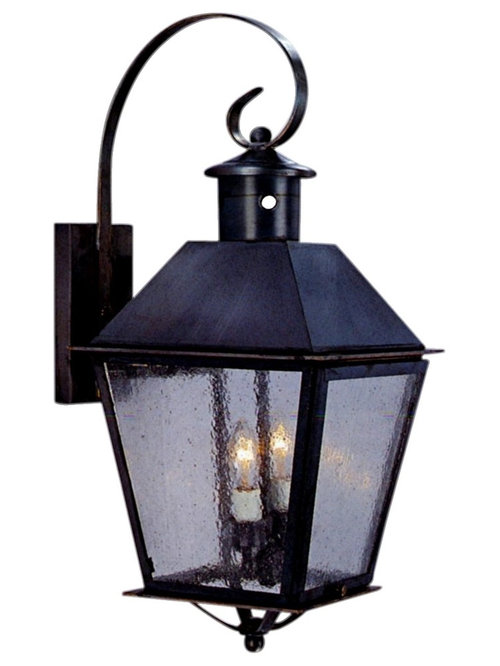Banford Copper Lantern Wall Light With Bracket And Scroll   Outdoor Wall  Lights And Sconces
