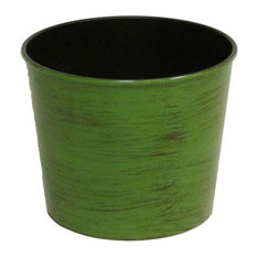"Hand Painted 5.5""H Round Plastic Pot Planter"