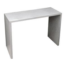 """Circa Concrete Console Table, White Linen, 60""""x16"""""""