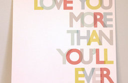 Love You More Print in Primary Colors by Gus & Lula