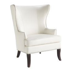 Royalton Armchair, Ivory Leather
