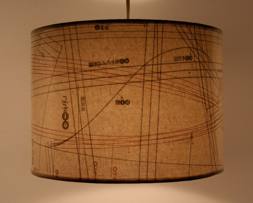 Vintage Industrial Shades with Sewing Patterns - Pendant Lighting