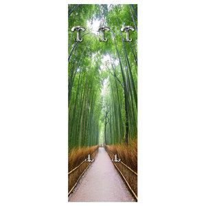 Road In Bamboo Wall Coat Rack