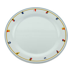 Galleyware Flags Melamine Non Skid Platters Set Of 2 Dinner Plates