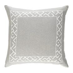 "Bohemian, Global Linen and Cotton Accent Pillow, 18""x18"""
