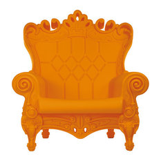 Slide   Little Queen Of Love Armchair, Pumpkin Orange   Armchairs U0026 Accent  Chairs