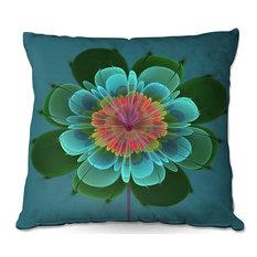 """Ghost Flower Clover Throw Pillow, 18""""x18"""""""