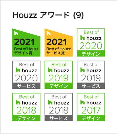 Best of Houzz 受賞バッジ 2021