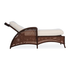 Grand Traverse Chaise, Bisque With Distinction Dove Fabric
