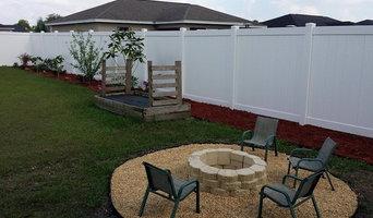 White 6' Vinyl fence