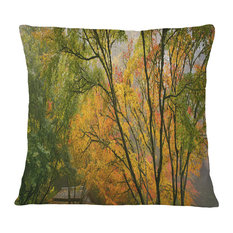 "Canopy of Maple Trees in Fall Floral Photo Throw Pillow, 16""x16"""