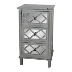 Grey Mirrored Bedside/Lamp Table � Vienna Range