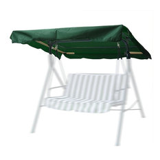 """72""""x53"""" Outdoor Swing Canopy Top Replacement Uv30+ 180Gsm, Green"""