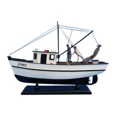 """Wooden Forrest Gump, Jenny Model Shrimp Boat, 16"""""""