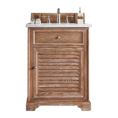 Savannah 26-inch Single Vanity Driftwood 3CM Classic White Quartz Top