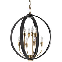 Dresden 8-Light Chandelier, Aged Old Bronze