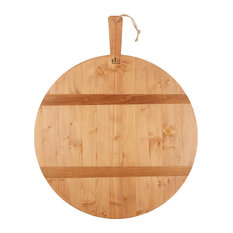 Pine Large Round Pizza Board