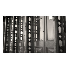 """""""Decorative Ironwork and Reflections, Galveston"""", Black and White Photography"""