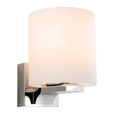 Palm Contemporary Bathroom Wall Light, Round