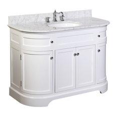 "Montage 48"" Bath Vanity With Carrara Top, White"