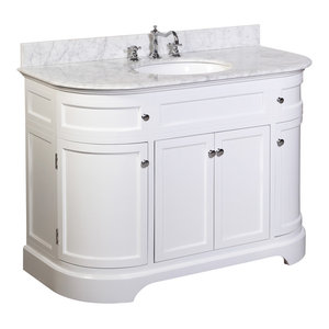"Montage 48"" Bath Vanity With Carrara Top, White"