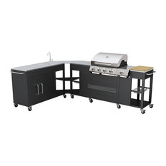 vidaXL Missouri Outdoor Kitchen Barbecue, 4-Burner